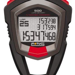 Motus Millennium MT68 Chronomètre avec mesurage des 500 temps (Lap/Split) et définition à 1/1000 de seconde Noir 2