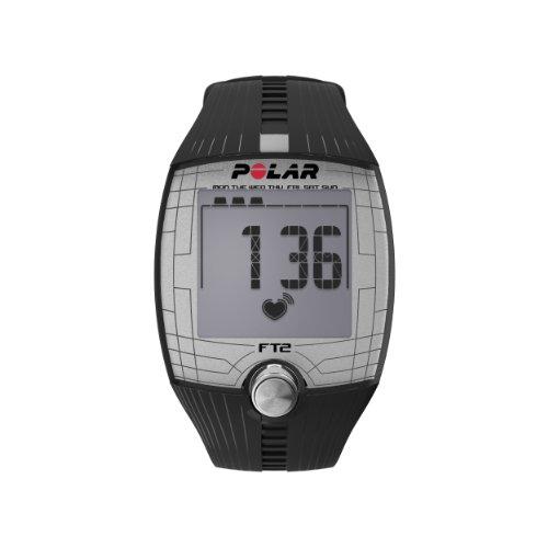Polar FT2 – Reloj con pulsómetro y pantalla grande de fácil lectura para inicio en fitness