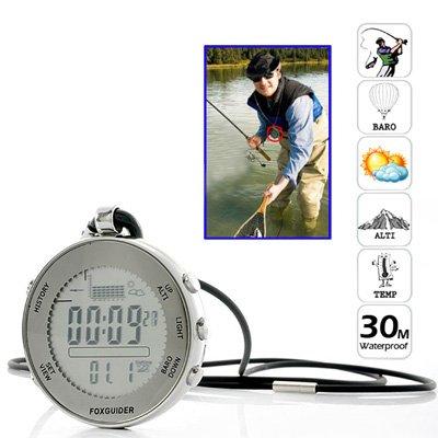 Profesional 30M Impermeable Digital De Bolsillo Barómetro De Pesca Con La Alarma Meteorológica Previsión / Tormenta 1