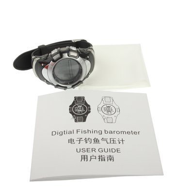 Reloj Barómetro De Pesca Digital Con Display Gráfico De Termómetro / Pronóstico Altímetro / Tendencia / Presión / 30M Alarma Impermeable / Tormenta 2