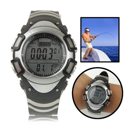 Reloj Barómetro De Pesca Digital Con Display Gráfico De Termómetro / Pronóstico Altímetro / Tendencia / Presión / 30M Alarma Impermeable / Tormenta 1