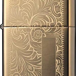 Zippo Lighter High Polish Brass Venetian