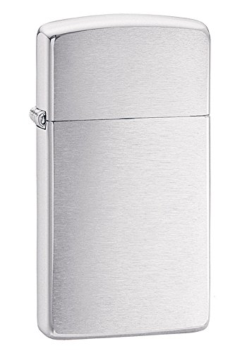 Zippo Brushed Chrome Slim Pocket Lighter 10