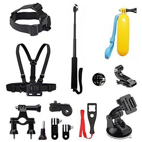 BEEWAY® BS12 - Kit 6 en 1 de accesorios deportivos para camarás de accion (GoPro, SONY, ThiEYE, SJACM, Qumox, Rollei, Xiaomi Yi y DBPOWER) 3