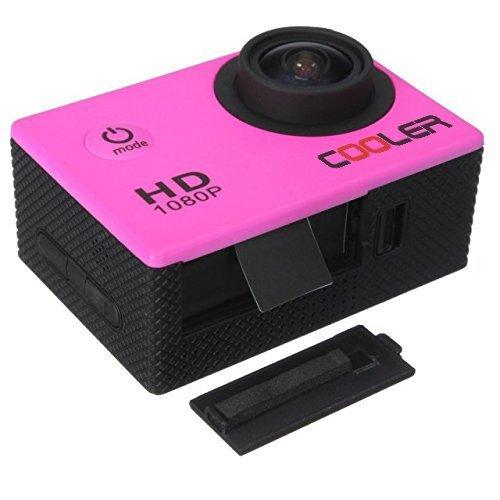 KIPTOP 1080p 12MP de Imagen y Vídeo Cámara Deportiva Impermeable, Apoyo Sumergible hasta 30 m,Lente de Gran Angular de 170 Grados pantalla LCD de alta definición y Accesorios Múltiples para Deportes al Aire Libre 1