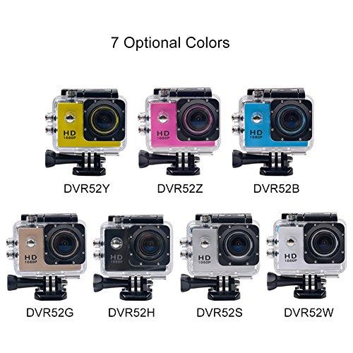 CkeyiN ® 1080P Full HD Impermeable Cámara de Acción Deportiva con Pantalla LCD de 2.0 Pulgadas 2
