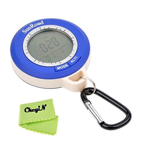 Ckeyin ® Mini LCD digital multifunción altímetro barómetro compás termómetro pronóstico del tiempo y Tiempo de visualización 6