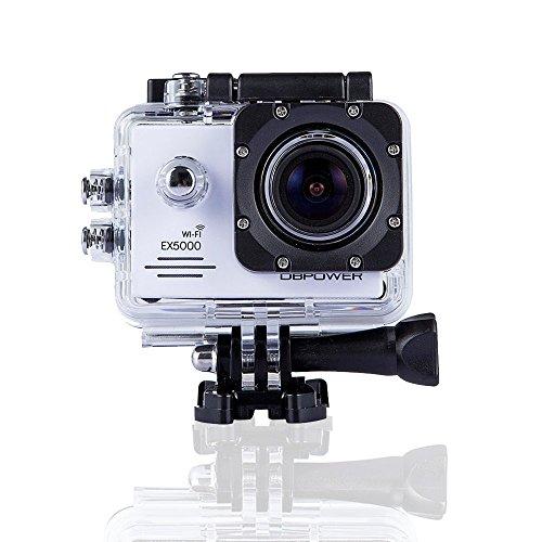 DBPOWER-Cmara-original-Sport-Action-a-prueba-de-agua-EX5000-WIFI-14MP-FHD-con-2-bateras-mejoradas-y-accesorios-0