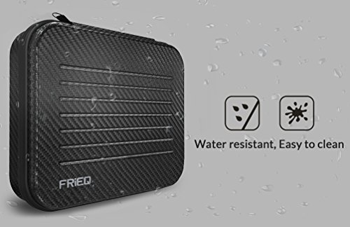 FRiEQ Medium Size Premium Water Resistant Carry Case for Gopro Hero 4, Black, Silver, Hero+LCD, 3+, 3, 2 and Accessories--Ideal for Travel or Home Storage 2