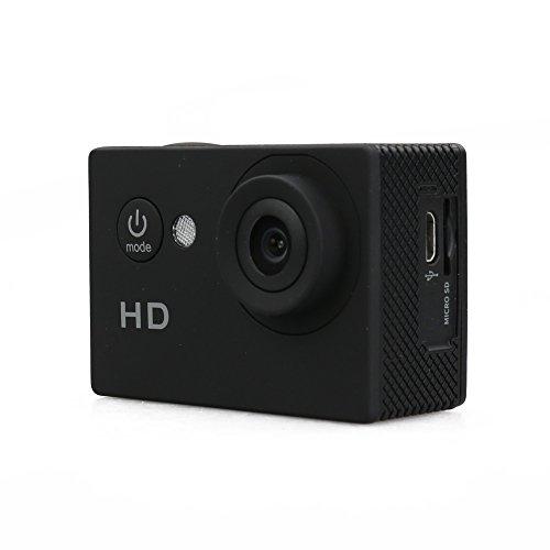 Flylink® 2.0-inch Screen Sports Action Camera Cam DV 5MP 720P HD 30M Waterproof DVR Screen Helmet Camera Sports DV Camcorder, [Importado de UK] 1