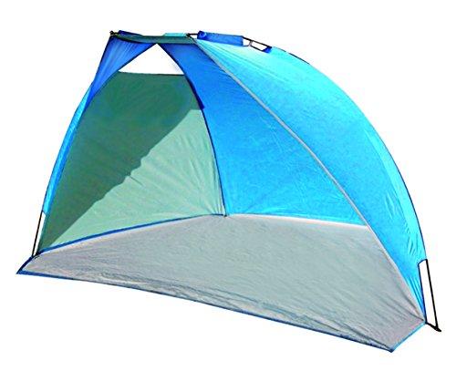 High Peak Mallorca - Tienda parasol para playa (240 x 125 x 140 cm, se monta sola), color azul 1