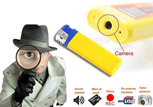 Mechero encendedor espía USB con cámara de vídeo memoria SD audio ampliable y resolución 1280 x 960 píxeles mws1337 6
