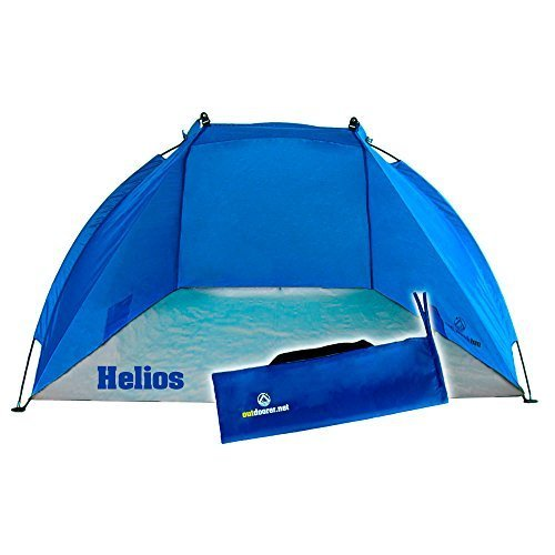 Outdoorer Tienda de Playa Helios, azul, UV 60, extra ligera, pack mini 2