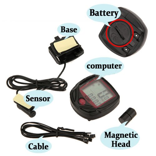Velocímetro LCD Bicicletas Cuentakilómetros Digital NR Impermeable 2