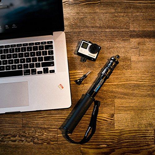 "SANDMARC Pole - Compact Edition: 10-25"" Telescoping Pole (Selfie Stick) for GoPro Hero 5 Black, Hero 4, Hero 5 Session, Hero 3, 2 and HD Cameras 2"
