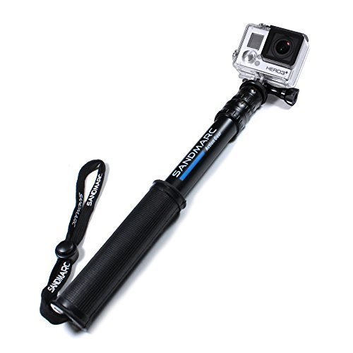 "SANDMARC Pole - Compact Edition: 10-25"" Telescoping Pole (Selfie Stick) for GoPro Hero 5 Black, Hero 4, Hero 5 Session, Hero 3, 2 and HD Cameras 9"