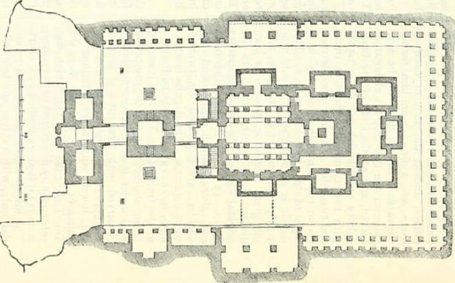 Plano de planta del templo