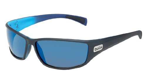 Bolle Python Sunglasses, Polarized GB10 AF, Matte Black/Blue 4