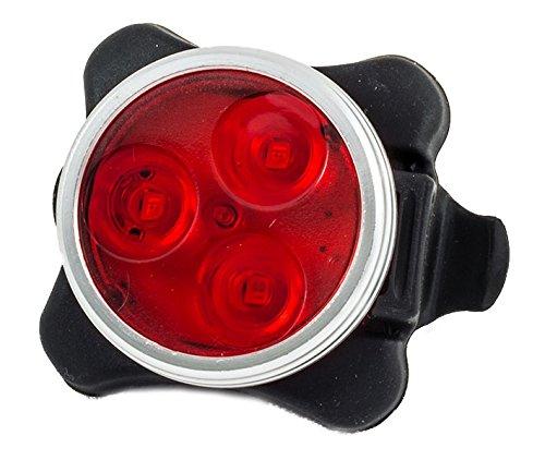 Love2pedaluk ®-Faro LED para bicicleta luces de bicicleta delantera Eje trasero,-Piloto trasero, Super brillante-USB Batería-5modos, Rear 1