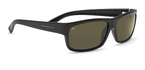 Serengeti Martino Sunglasses (Shiny Black 555nm Polarized) 3