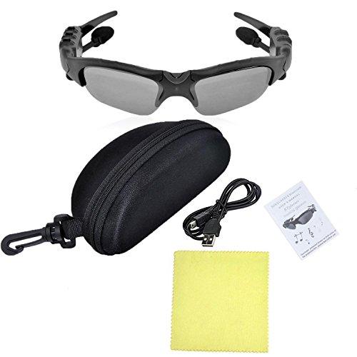 THB-368 Inalámbricas manos libres estéreo auriculares Bluetooth gafas de sol con lente gris oscurezca 1
