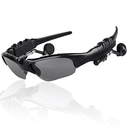 THB-368 Inalámbricas manos libres estéreo auriculares Bluetooth gafas de sol con lente gris oscurezca 12