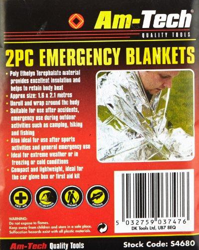 Am-Tech Emergency Blanket (2 Pieces) 1