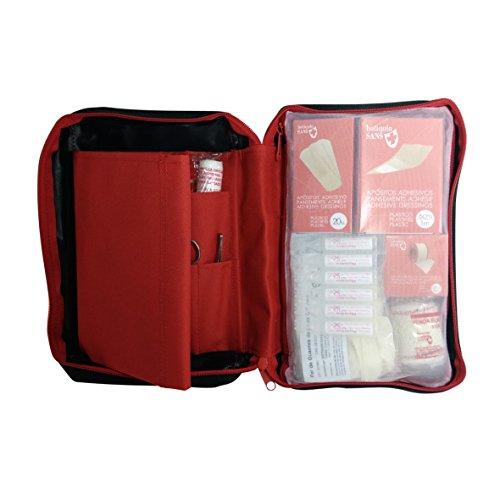 Botiquín de primeros auxilios SUPER ROL equipado con 120 artículos imprescindibles (TERMÓMETRO, BOLSA FRÍO INSTANTÁNEO, MANTA ISOTÉRMICA,...) 1