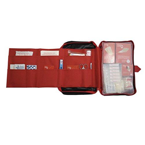 Botiquín de primeros auxilios SUPER ROL equipado con 120 artículos imprescindibles (TERMÓMETRO, BOLSA FRÍO INSTANTÁNEO, MANTA ISOTÉRMICA,...) 2