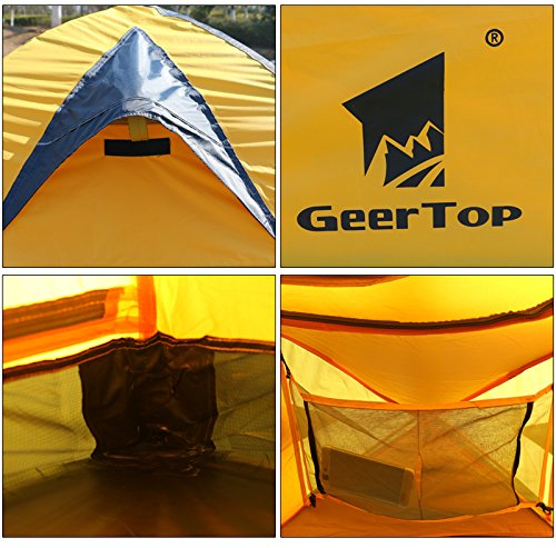 GEERTOP® 4-season 2-person Waterproof Dome Backpacking Tent For Camping, Hiking, Travel, Climbing - Easy Set Up 2