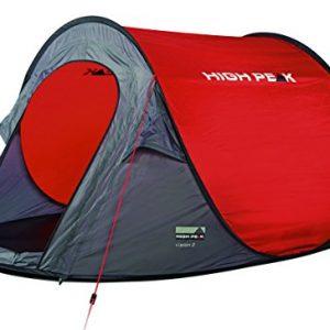 High Peak Vision 2 – Tienda de campaña instantánea, color rojo, talla STANDARD