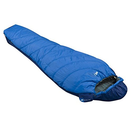 Millet Baikal 750 Sleeping Bag: 43 Degree Synthetic Sky Diver/Ultra Blue, Reg/Left Zip