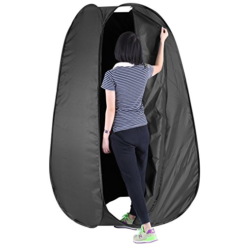 Neewer® 7 Feet/213cm Collapsible Indoor/Outdoor Camping Photo Studio Pop Up Changing Dressing Tent Fitting Room with Carrying Case(Black) 1