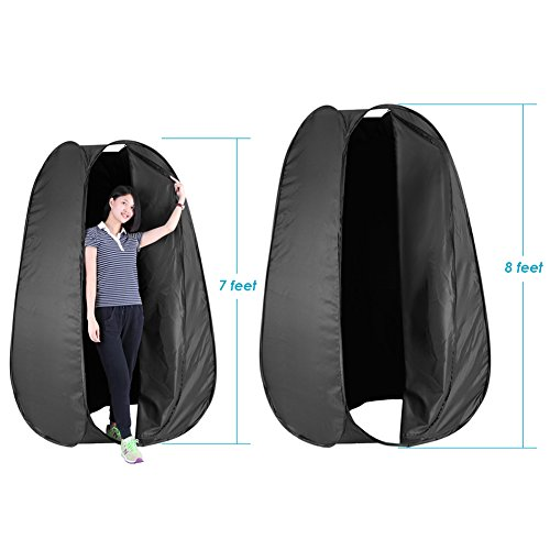 Neewer® 7 Feet/213cm Collapsible Indoor/Outdoor Camping Photo Studio Pop Up Changing Dressing Tent Fitting Room with Carrying Case(Black)