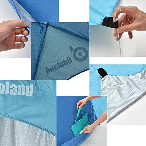 ODOLAND Parasol Basecamp Refugio automática Pop Up Instant tienda portable rápida al aire libre cabaña de playa plegable Refugio Sol, Azul 1
