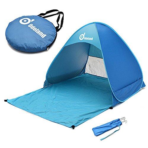 ODOLAND Parasol Basecamp Refugio automática Pop Up Instant tienda portable rápida al aire libre cabaña de playa plegable Refugio Sol, Azul