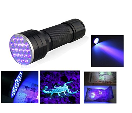 Relefree Linterna 21 LED UV 395-400 nM Flashlight Luz Ultravioleta 1