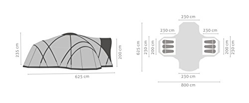 Salewa Alpine Lodge Vi+ Tent - Tienda de campaña, color verde, talla única 1