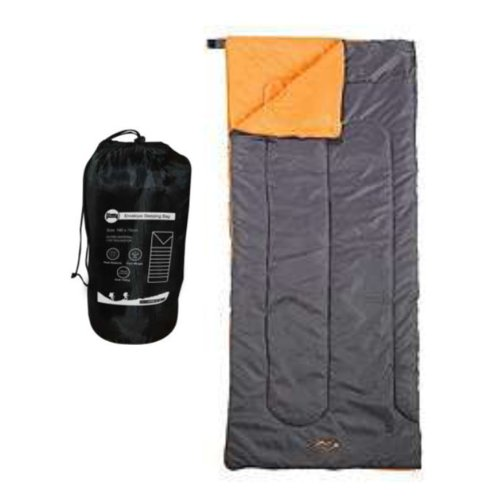 Milestone Camping Envelope Sleeping Bag – Black
