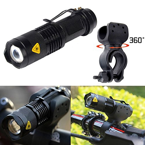 Ularmo 1200lm Cree Q5 LED ciclismo bici bicicleta cabeza frontal luz linterna + 360 soporte