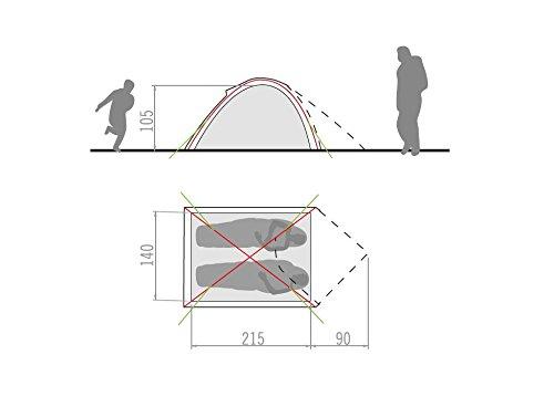 VAUDE 2 Personen Zelt Campo Compact - Tienda de campaña iglú 1