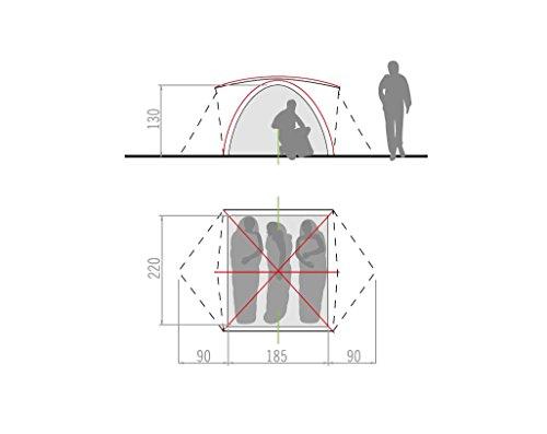 Vaude Campo Grande - Tienda de campaña (3-4 personas, 365 x 220 x 130 cm) 1