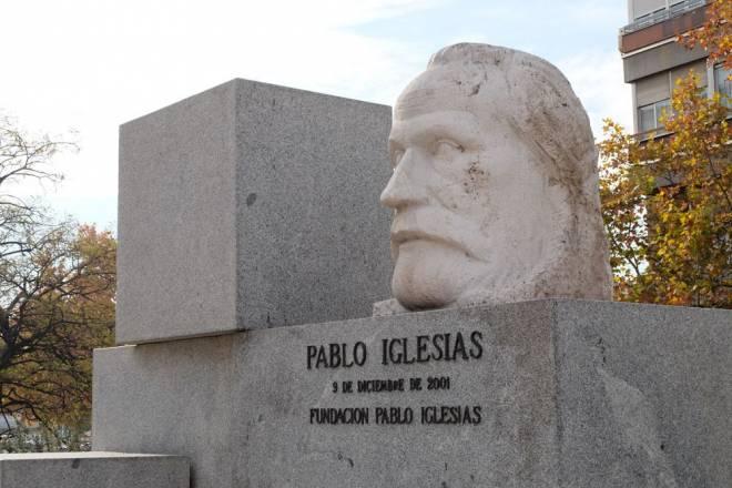 Réplica del busto de Pablo Iglesias
