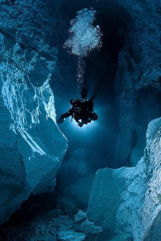 Cueva Orda la cueva de yeso más larga del mundo subacuático