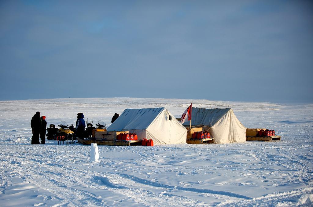 Campo de entrenamiento de los Rangers canadienses, cerca CSB Alert, Nunavuk