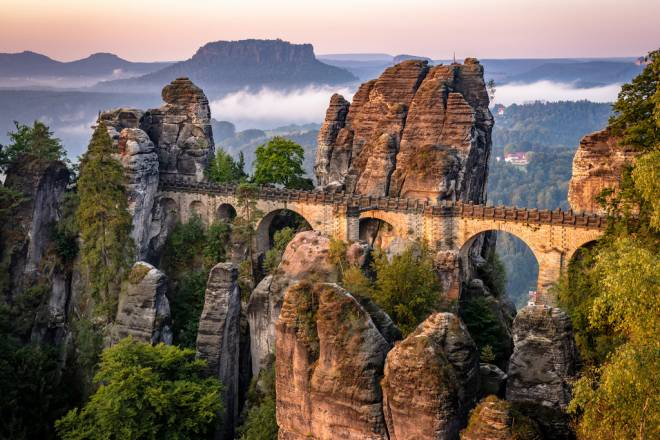 Bastei: Impresionante bastión puenteado en Sajonia