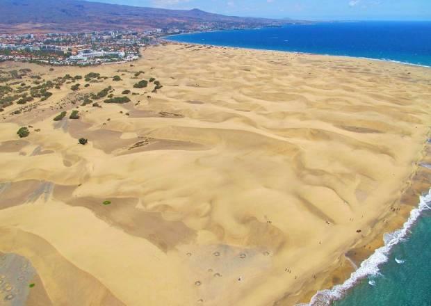 """Las dunas de Maspalomas. Fotos Aéreas de las Dunas de Maspalómas.""""La Costa Turística de San Bartolomé de Tirajana"""" Gran Canaria"""
