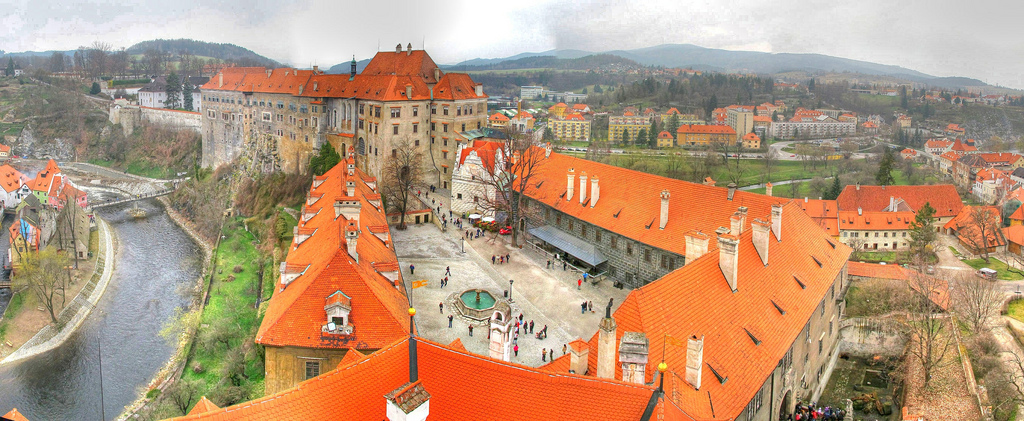 Fotos panoramicas Cesky Krumlov ciudad medieval Republica Checa
