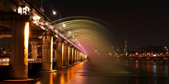 Banpo – El mayor puente de doble piso con fuente del mundo