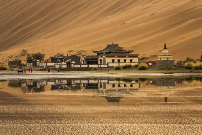 Lagos del desierto de Badain Jaran